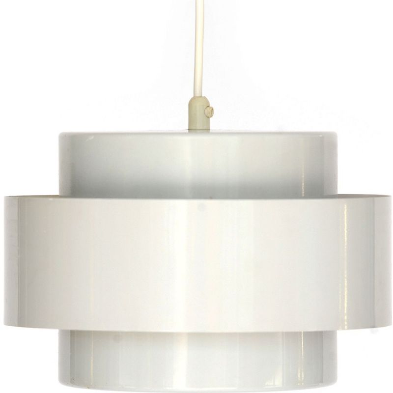 Vintage Juno pendant light in white metal by Hammerborg 1960
