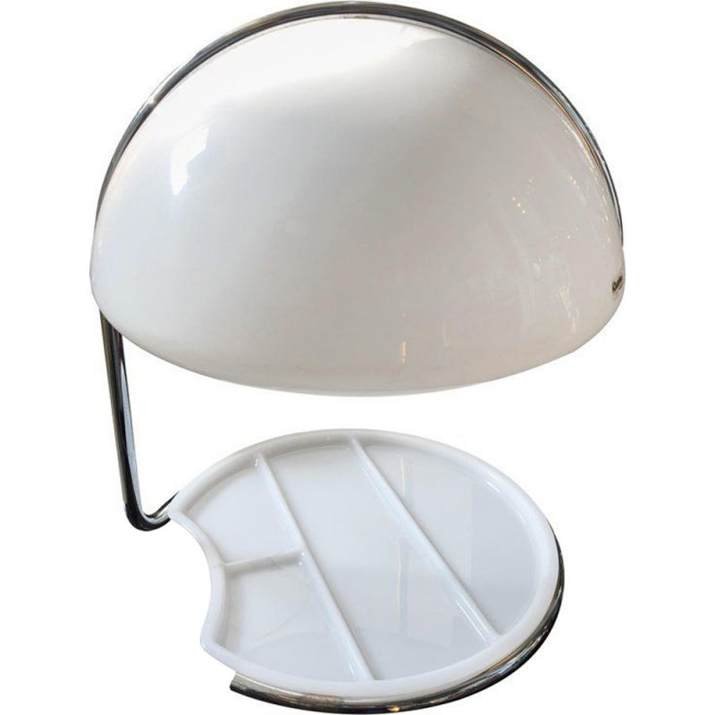 Vintage Space Age lamp for Harvey Guzzini in steel and plastic 1960