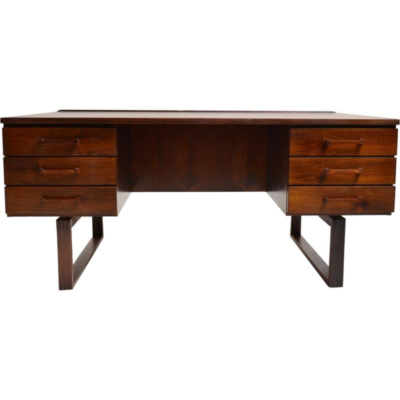 Vintage scandinavian desk for Preben Schou Andersen in rosewood
