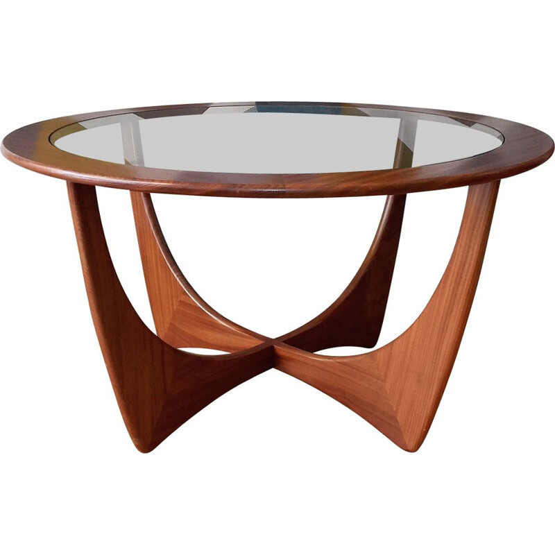 Vintage Astro scandinavian table for G-Plan  in teak and glass 1960