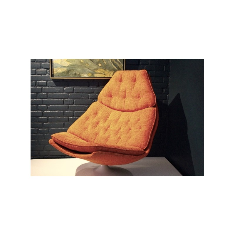 Next 1 2 3 4 Swivel Chair In Orange Fabric