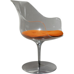 Champagne armchair in plexiglas and aluminum, Estelle and Erwin LAVERNE - 1970s