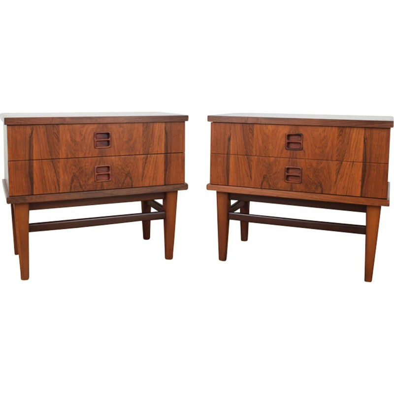 Mid-Century Danish Rosewood Bedside Tables, 1960s