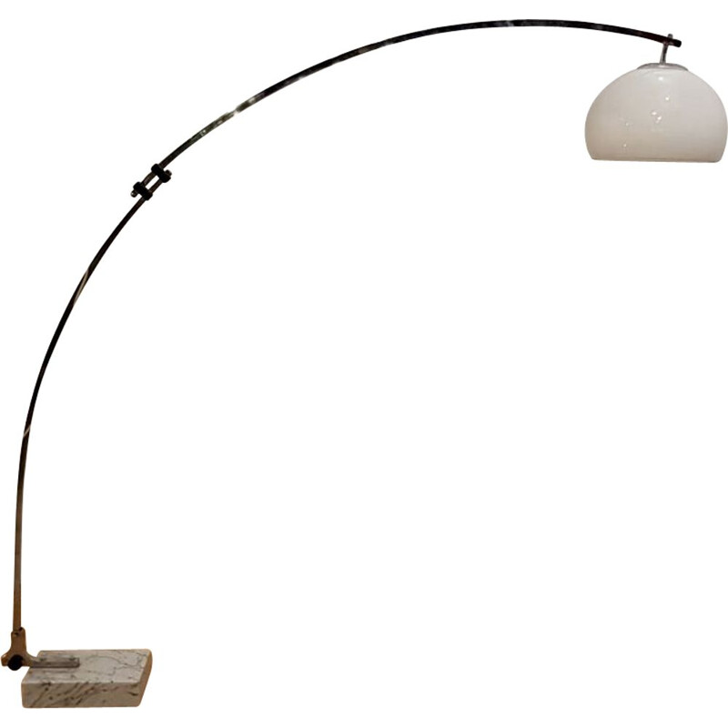 Reggiani Arc floor lamp with base in marble 1970