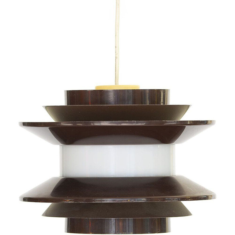 "Brown pendant light ""Trava"" by Carl-Thores, Sweden"
