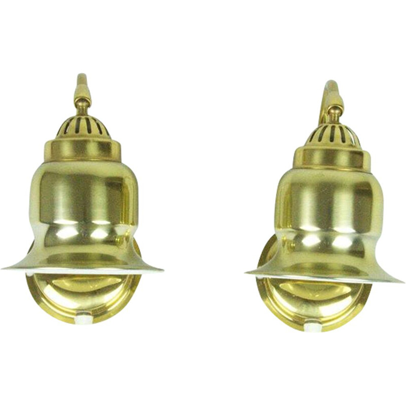 Pair of golden sconces by Dahlqvist & Johansson, Sweden