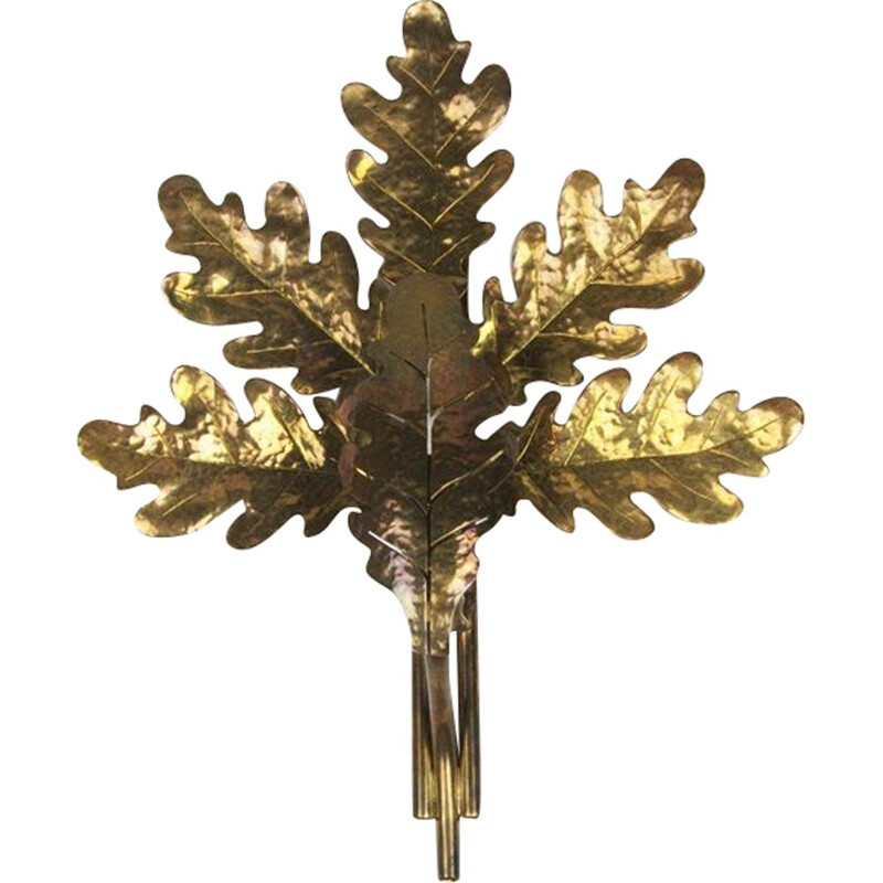 Brass wall lamp, 1950