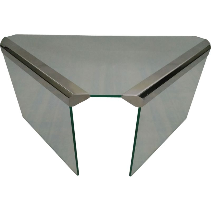 Vintage italian glass table for Gallotti & Radice 1970