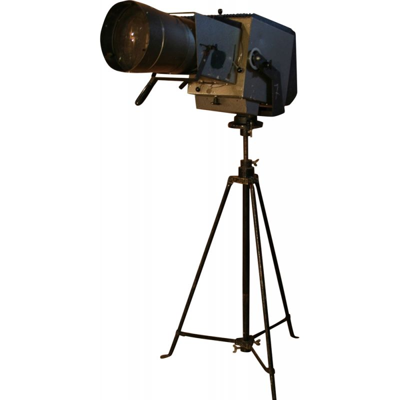 Vintage Pani film tripod spotlight in steel 1970