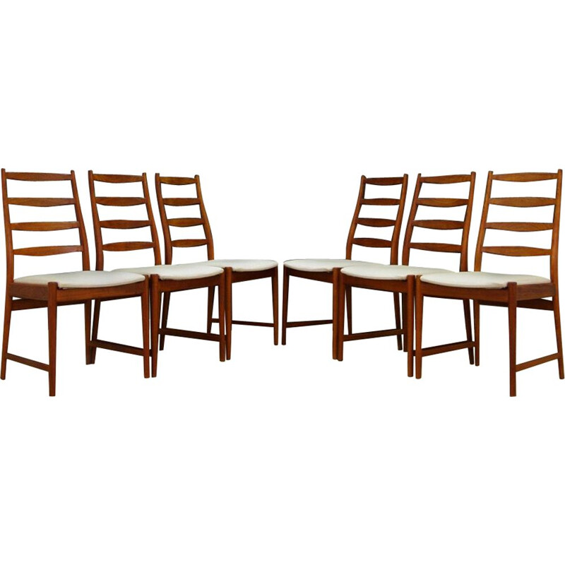 Set of 6 vintage teak scandinavian chairs for Vamo Sønderborg