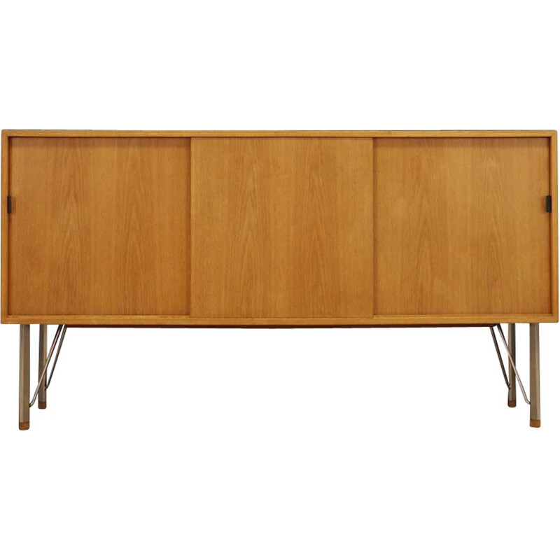 Vintage danish sideboard in ashwood and metal 1960