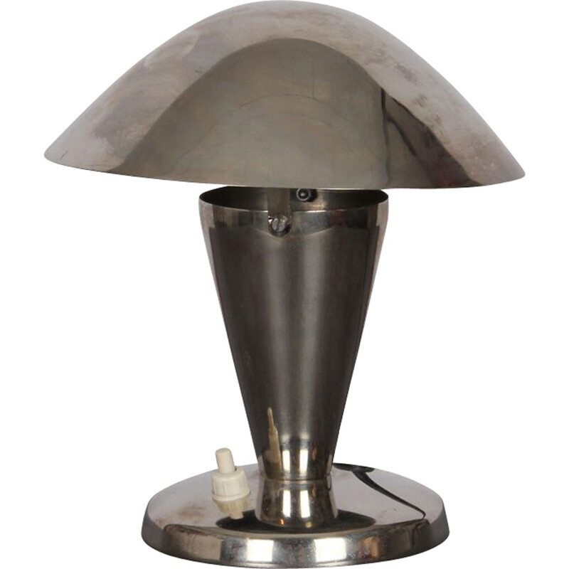 Vintage czech lamp in grey metal 1940