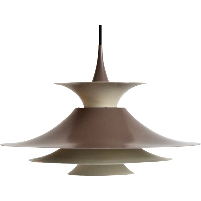 Vintage Radius pendant for Fog & Mørup in brown metal 1960
