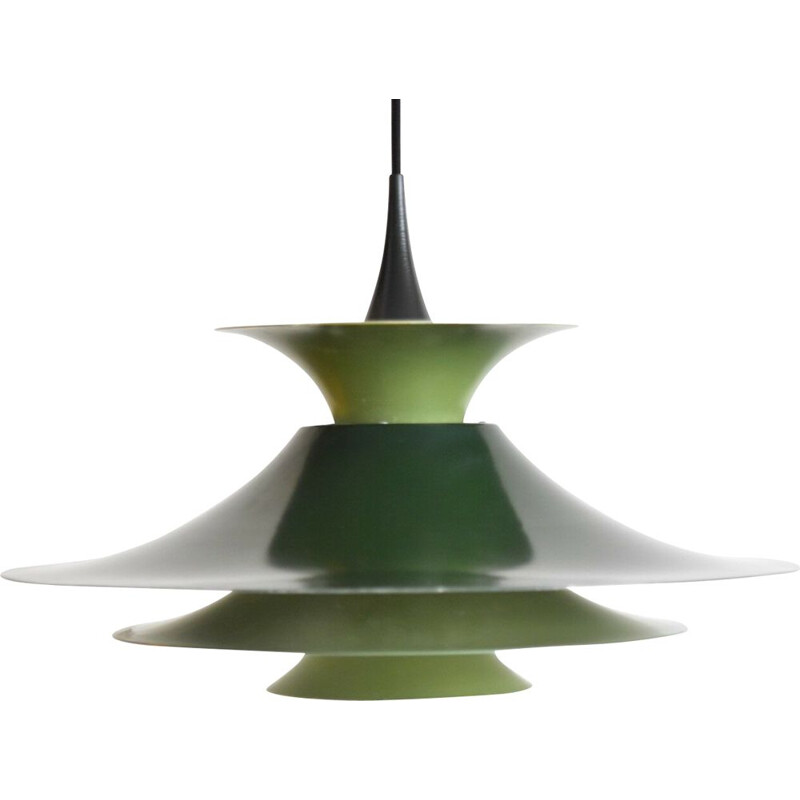 Vintage Radius 1 pendant for Fog & Mørup in green metal