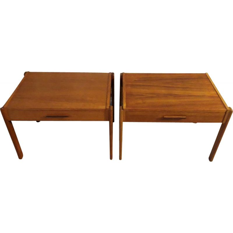 French Beam Teak Coffee Table: Pair Of Teak Coffee Tables By PBJ Mobler