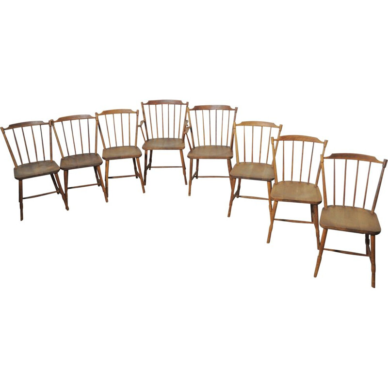 Set of 8 Børge Mogensen dining chairs for FDB Møbler 1940