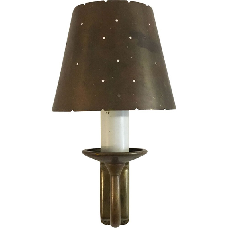 Vintage brass wall lamp 1950