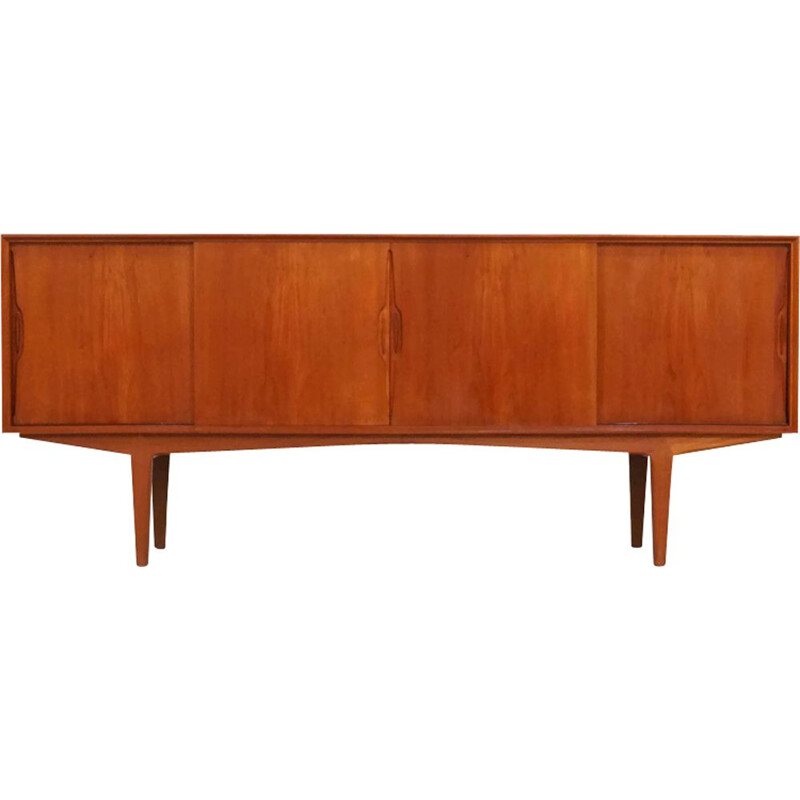 Vintage teak sideboard with sliding doors