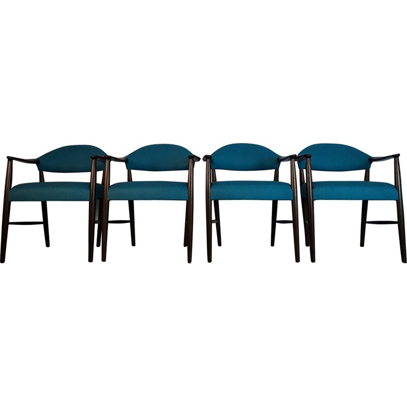 Set of 4 vintage chairs by Kurt Olsen Scandinavian