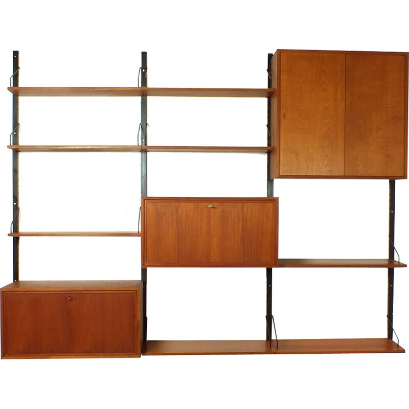 Vintage wall unit Royal System by P. Cadovius