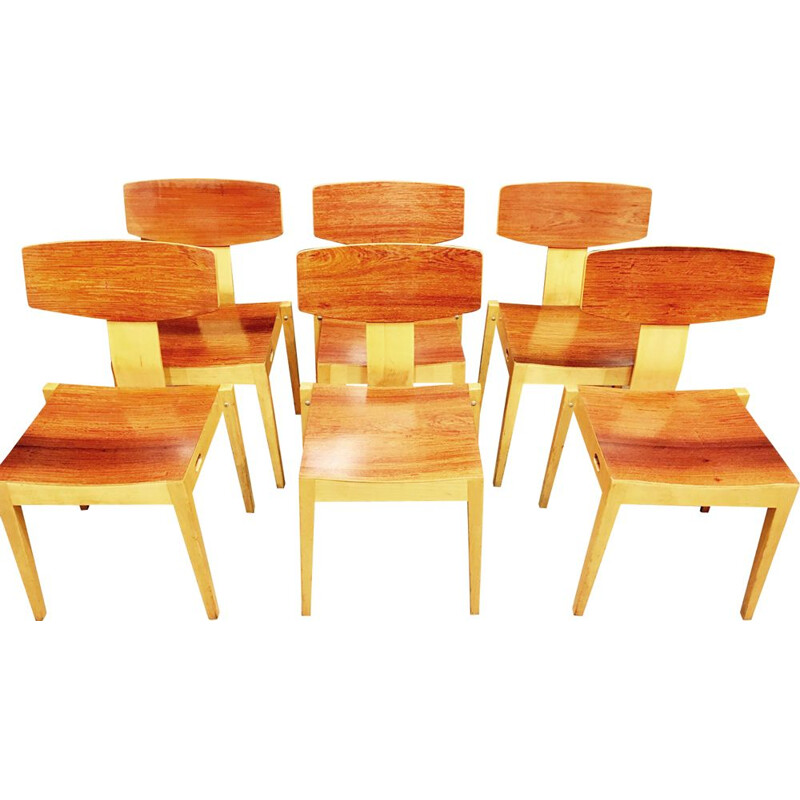 Set of 6 vintage chairs Scandinavian Christoffersen and Petersen