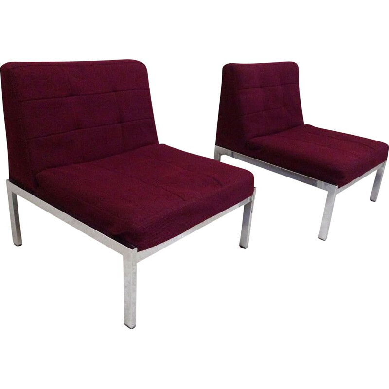 Pair of armchairs Samurai by Joseph-André Motte for Airborne
