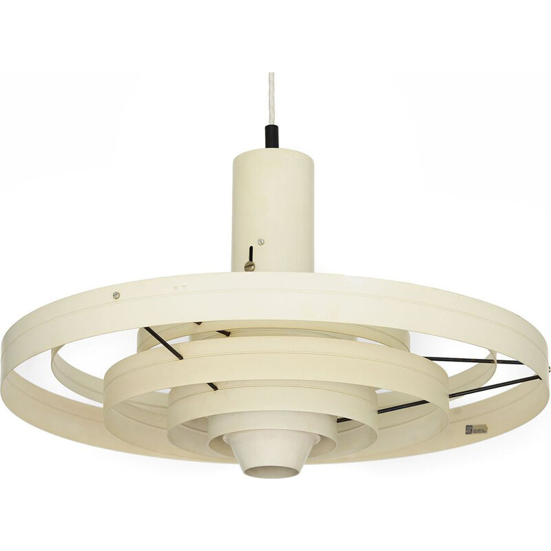 Wide pendant light Fibonacci by Sophus Frandsen for Fog & Mørup. Denmark 1960s