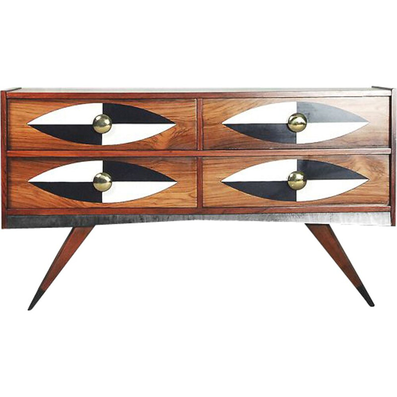 Vintage Swedish Rosewood Chest of Drawers by AB Glas & Trä, 1960