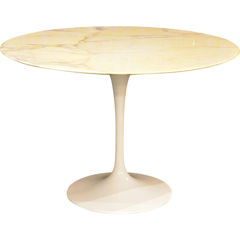 Table Tulip vintage 107cm by Eero Saarinen for Knoll International 1970