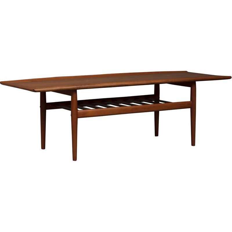 Vintage coffee table by Grete Jalk in teak