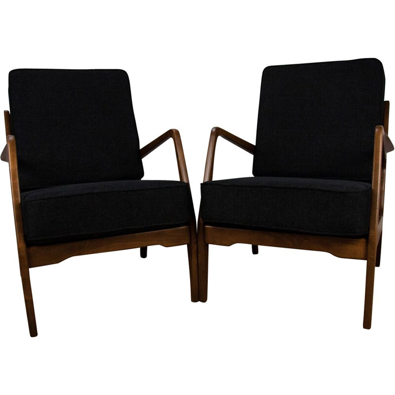 Set of 2 vintage danish armchairs