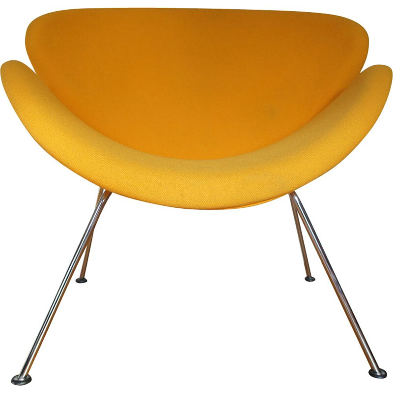 Vintage yellow Slice chair by Pierre Paulin