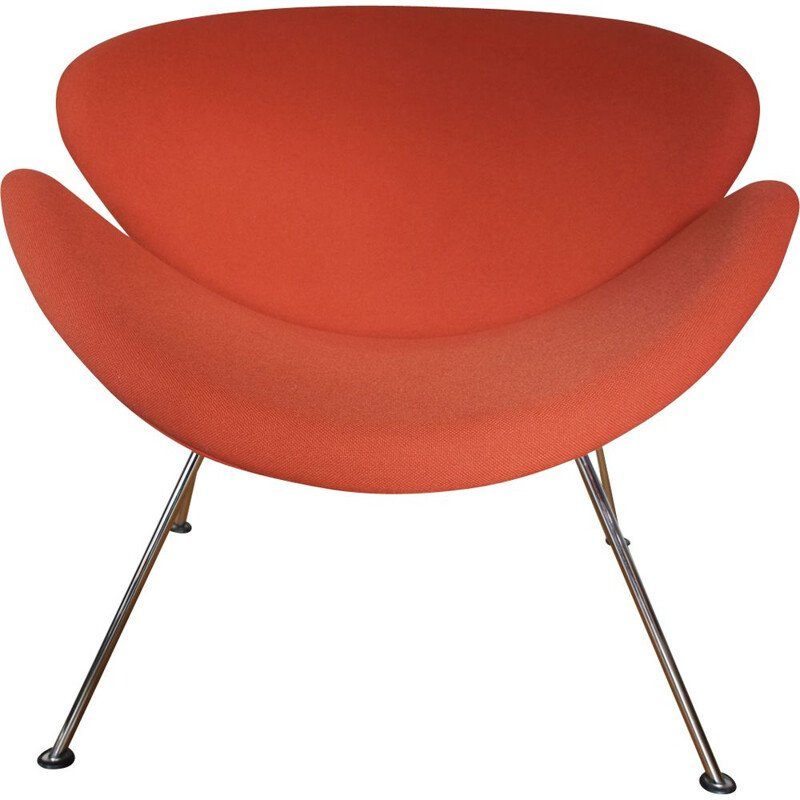 Vintage orange Slice chair by Pierre Paulin