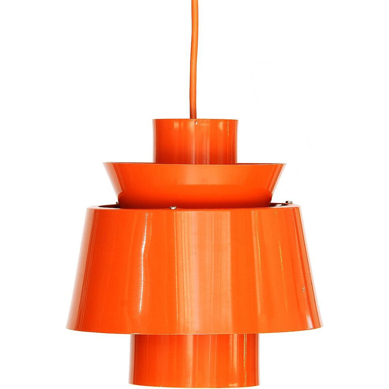 Vintage orange hanging lamp