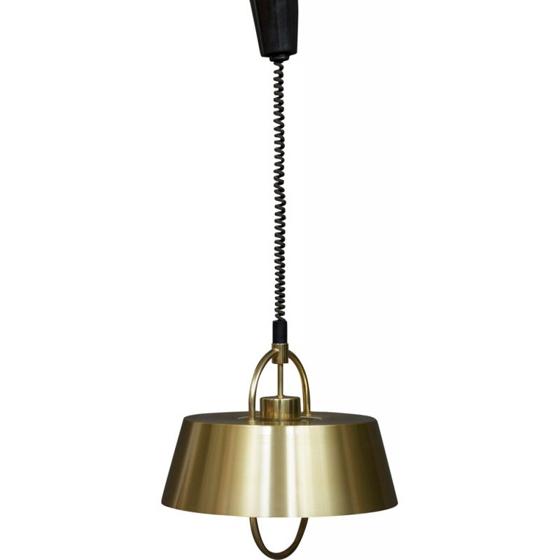 Vintage hanging lamp by Jo Hammerborg in brass