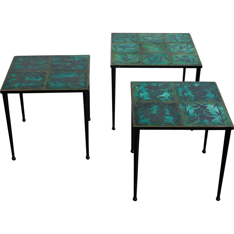 Pair of Jean Lurçat side tables, France 1960