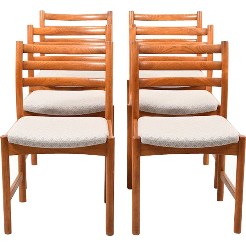 Set of Six Danish Dining Chairs by Poul Volther for Soro Stolefabrik