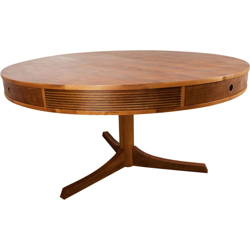 Vintage yew drum table by Robert Heritage for Archie Shine