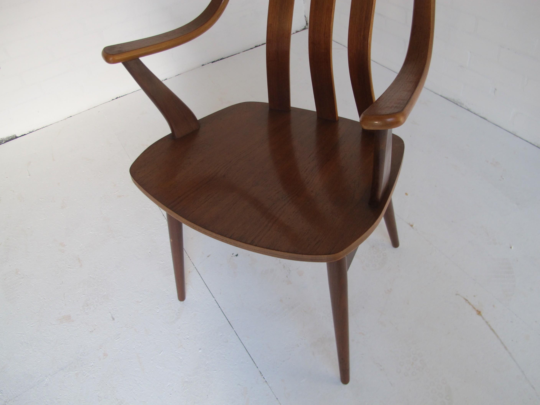 Set Of 4 Scandinavian Dining Chairs In Teak 1950s