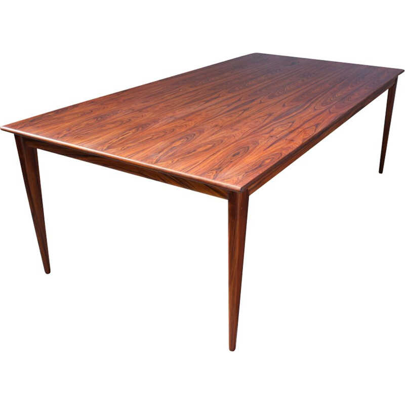 Vintage large Danish rosewood dining table