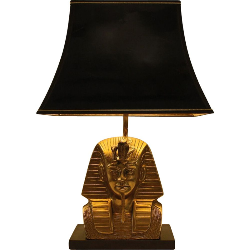 Vintage Pharaon lamp in solid brass