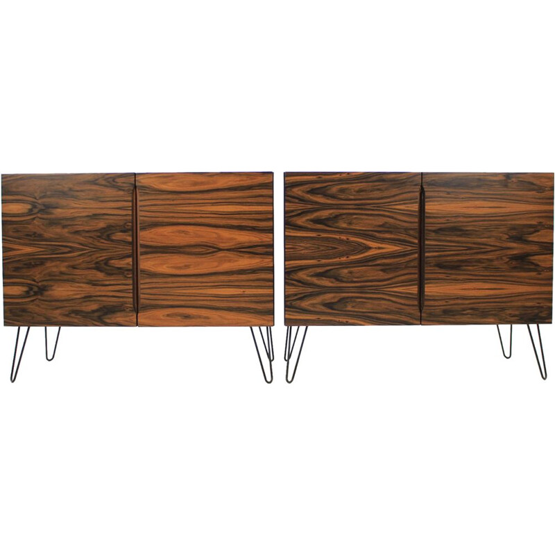 Set of 2 Upcycled rosewood sideboard, 1960