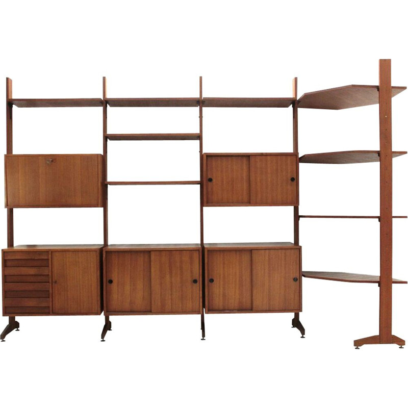 Vintage Italian wall unit with corner, 1960