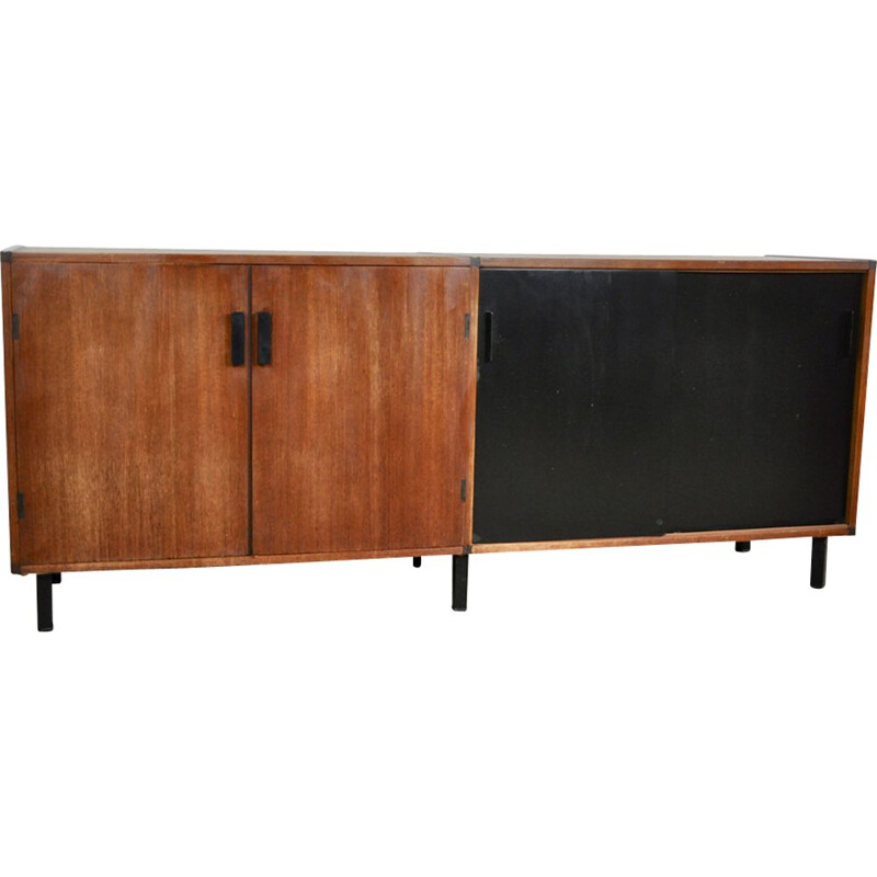Vintage two-tone sideboard in teak 1960
