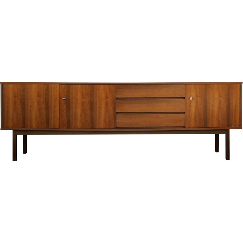 Long Vintage sideboard in walnut 1960