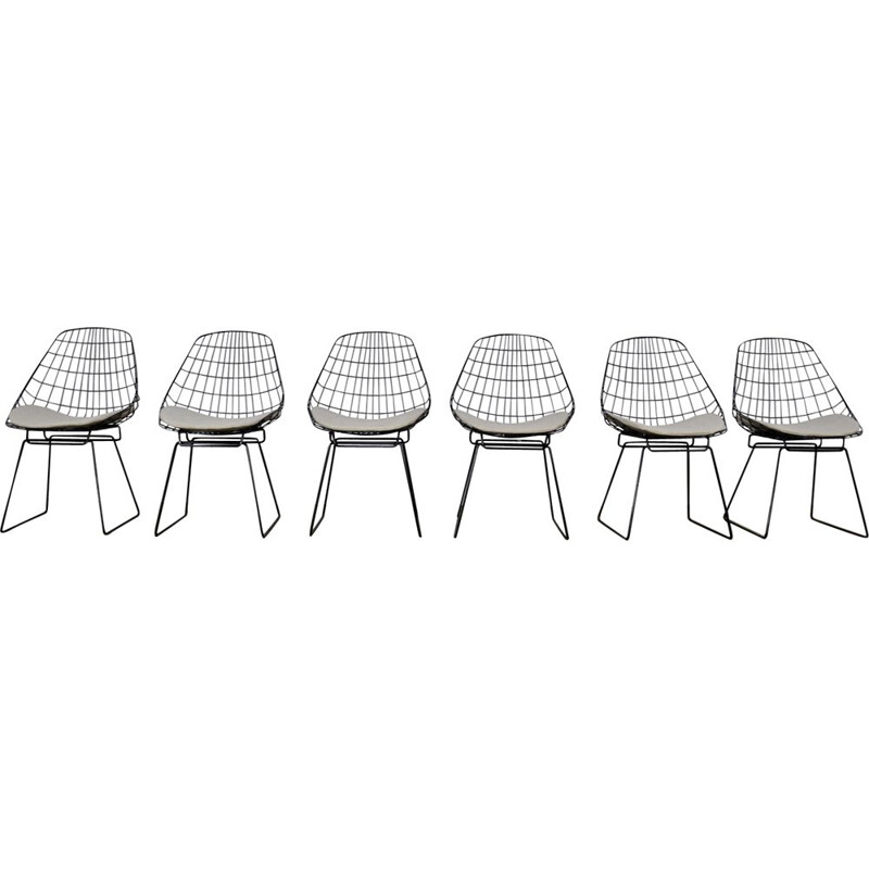 Set of 6 SM05 chairs by Cees Braakman for Pastoe