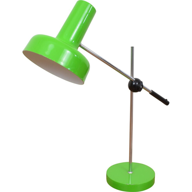 Vintage german green table lamp in metal for Gura Leuchten 1970