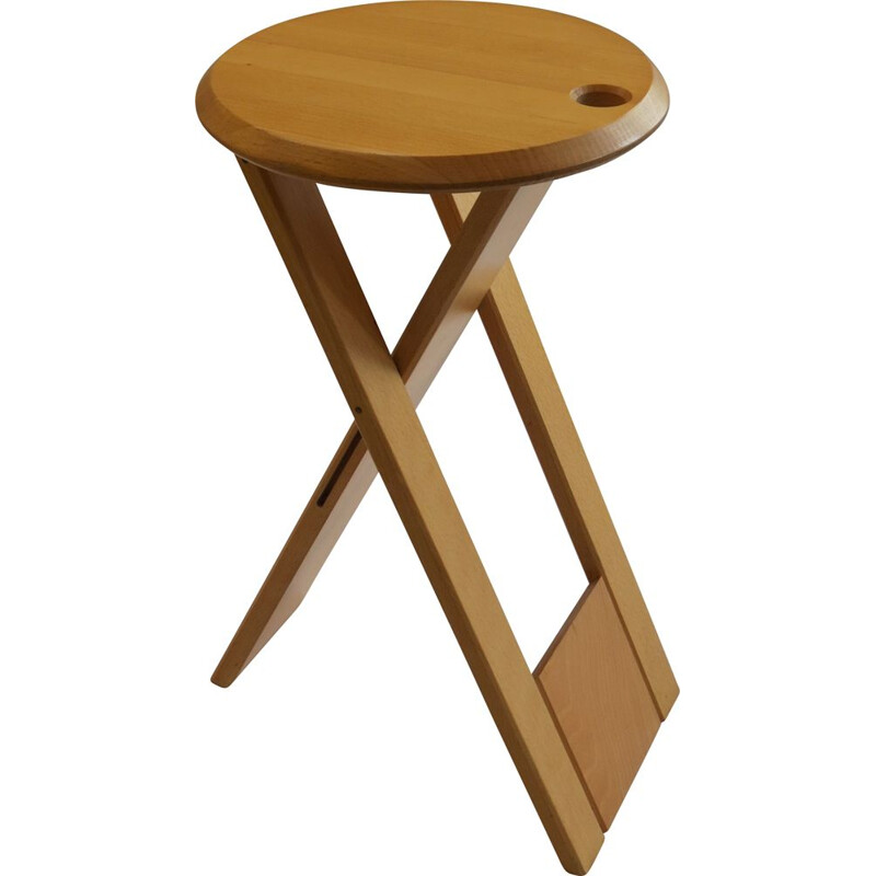 Vintage Suzy stool for Princes Design Works in beechwood 1980