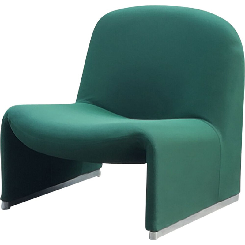 Vintage Alky armchair for Castelli in green fabric 1970