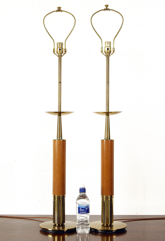 Pair of Large 1970s Brass Stiffel Floor